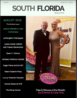 south florida magazine - man and woman of the month joe d'amico and irene yovu